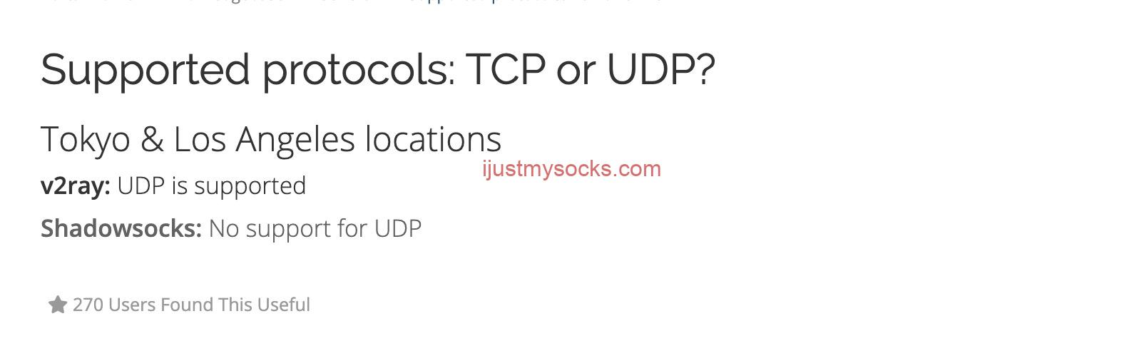 Just My Socks 支持 UDP